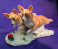 Eve Pearce Hand-Made Model - Corgis Running * SALE *